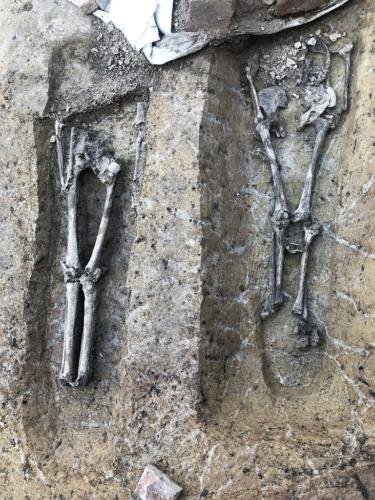 Archeologický nález č. 1  na stavbě 1