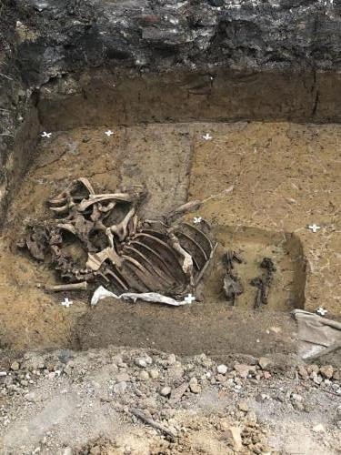 Archeologický nález č. 2 na stavbě