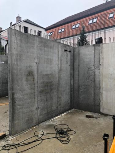 monolitické stěny 2.NP