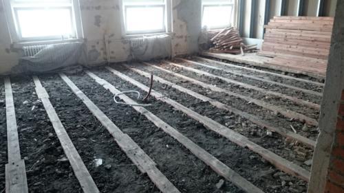 násyp pod podlahy